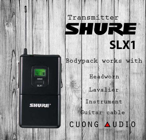Bộ phát không dây micro cài áo Shure SLX14