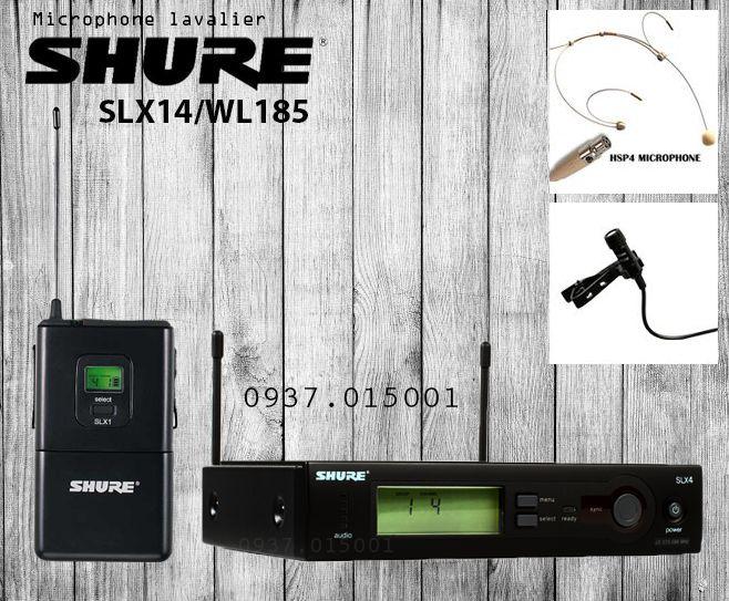 micro không dây cài áo Shure SLX14/WL185