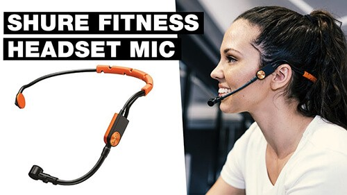 Micro headset shure sm31fh for fitness